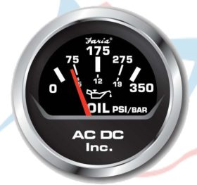 black 0-350 oil gauge