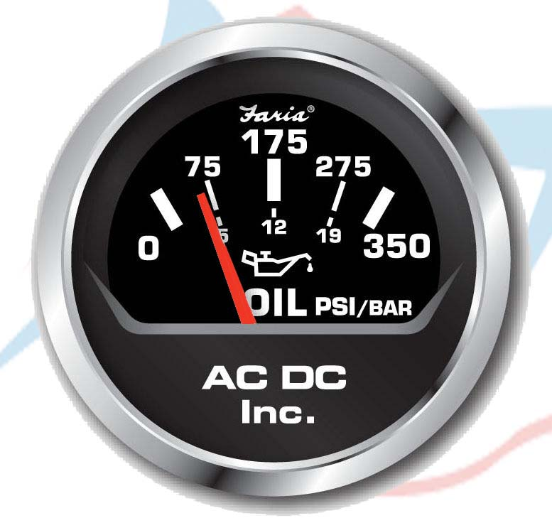 black 0-350 oil gauge