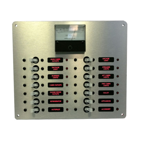DC Distribution Panel With Analog Meter