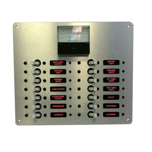 DC Distribution Panel With Analog Meter