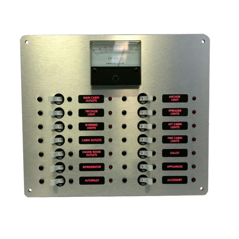 dc branch circuit breaker panel w analog voltmeter ac. Black Bedroom Furniture Sets. Home Design Ideas