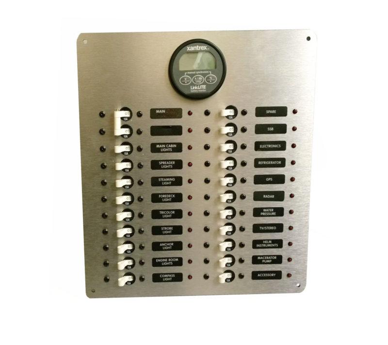 60a dc power distribution panel 12 24 vdc w xantrex. Black Bedroom Furniture Sets. Home Design Ideas