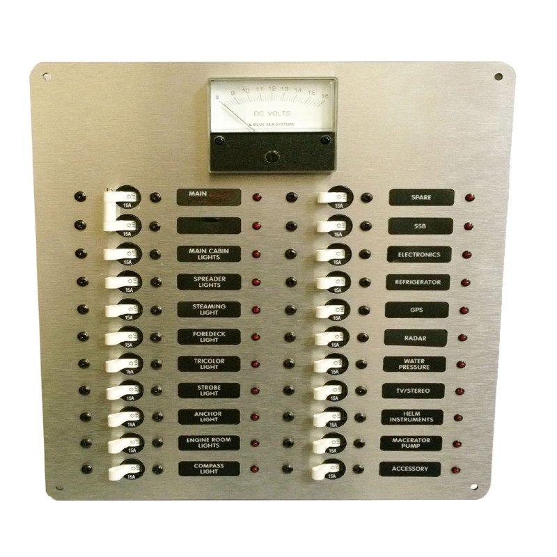 Electrical Distribution Panel With Meter : Dc power distribution panel with analog voltmeter ac
