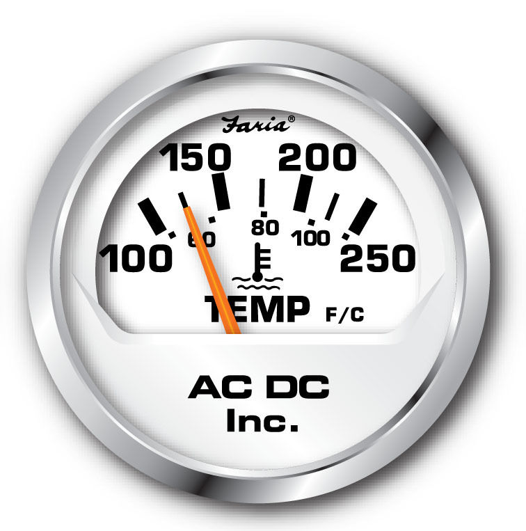 faira white temp gauge 100-250