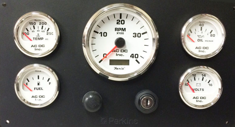 Perkins Marine Engine Instrument Panel 10 75