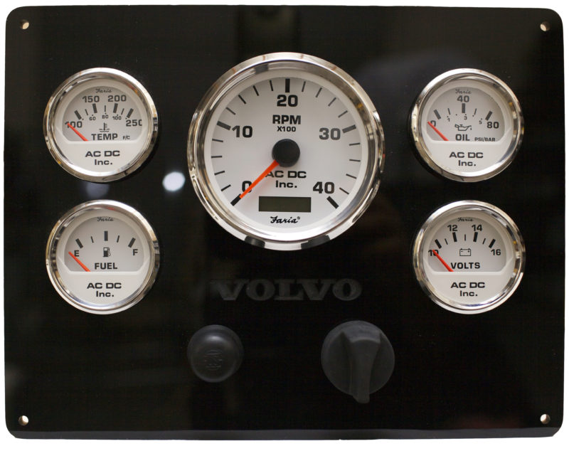 Volvo Engine Instrument Panel 12Vdc Boat Panel