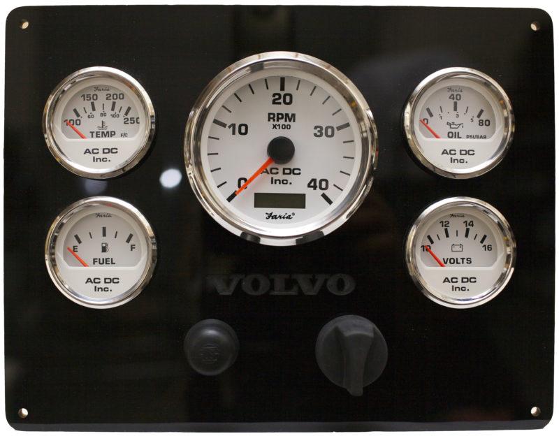 Volvo Engine Instrument Panel 12vdc Boat Panel