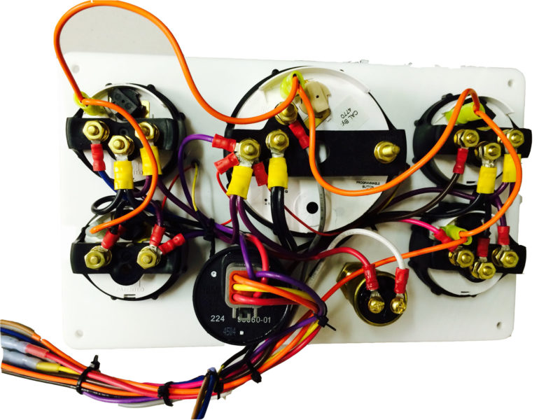 black perkins marine engine instrument panel white gauges 10 75 white back panel
