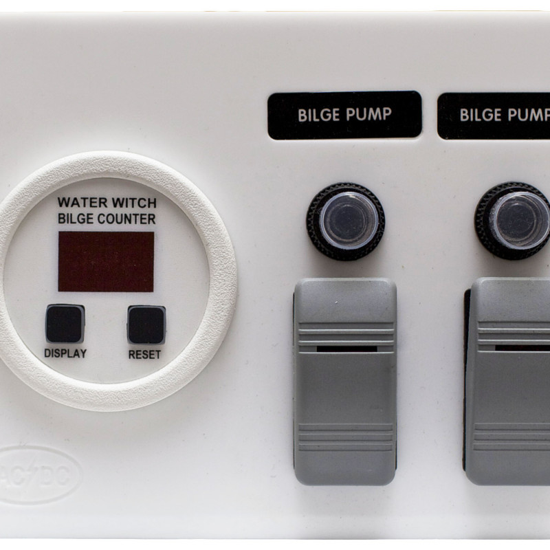 Bilge Pump Panel with Digital Cycle Counter