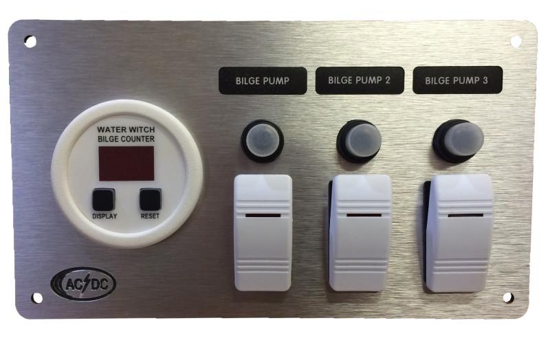 Aluminum Bilge Panel 3pump