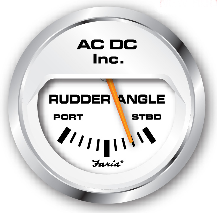 rudderwhite rudder angle gauge ac dc marine, inc vdo rudder angle indicator wiring diagram at bayanpartner.co