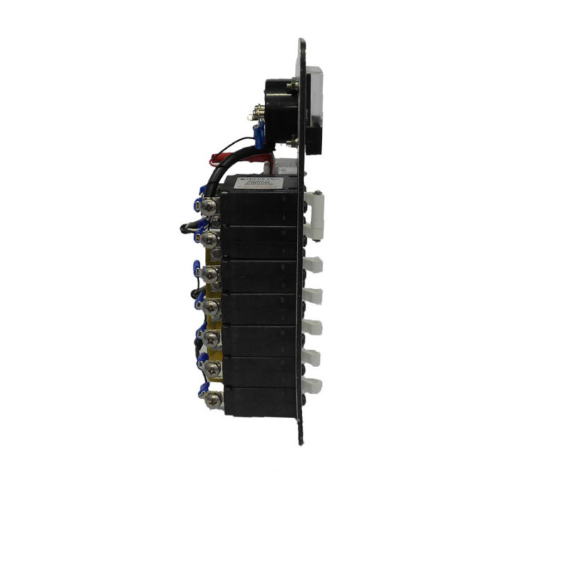 AC panel with 5 circuit breakers side view