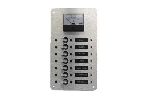 Dual Main Circuit Breaker Panel with AC Volt Meter
