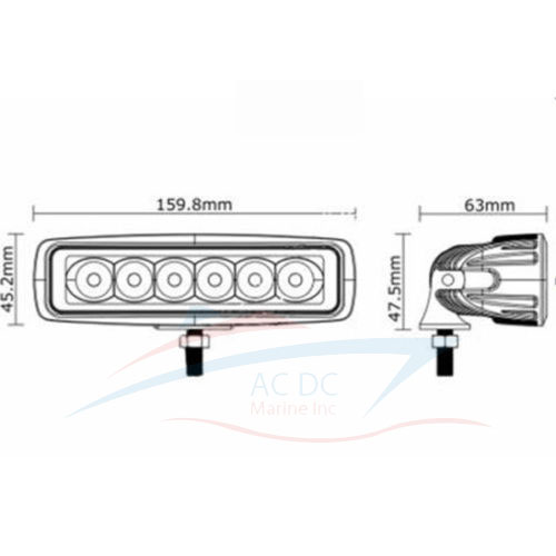 led spreader light