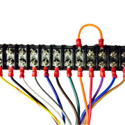 terminal strip with marine wire