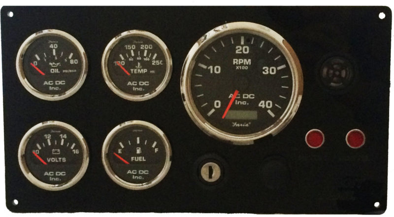 Dual Station Lehman Power Diesel Marine Engine Instrument Panels on vdo temperature gauge wiring diagrams