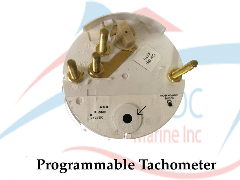 Ac Dc Inc Tachometer With Digital Hourmeter 4000 Rpm on boat tach wiring diagram