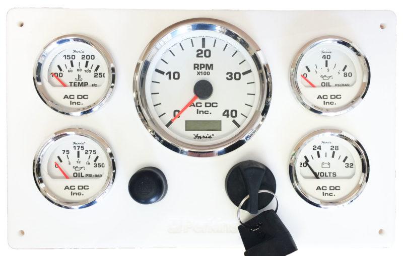 24 Volt Perkins Engine Instrument Panel ndash AC DC Marine Inc