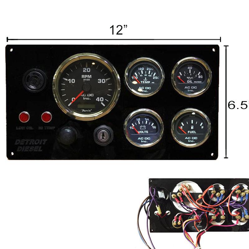 black detroit diesel marine engine instrument panel  black yamaha fuel gauge wiring diagram