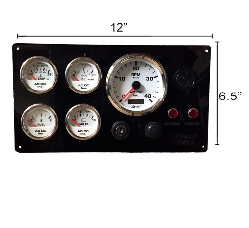 lehman power marine engine instrument panel rh acdcmarineinc com