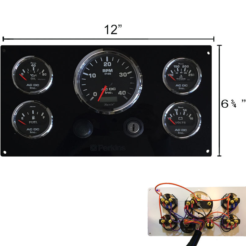 black perkins marine engine instrument panel black gauges ac dc black perkins marine engine instrument panel black gauges