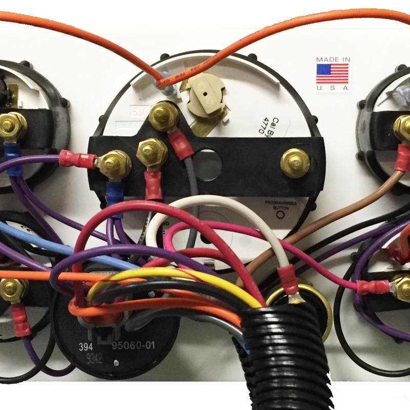 cummins marine engine instrument panel white gauges ac dc backwirirng diagram