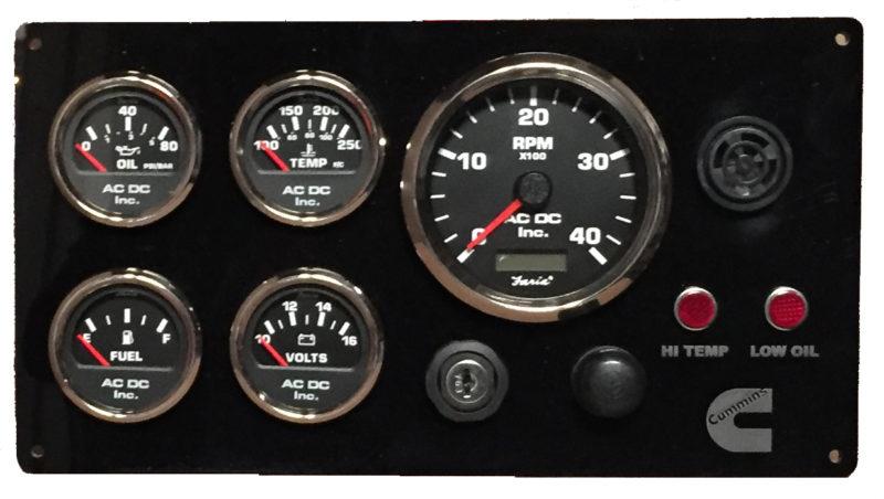 Black Cummins Engine Instrument Panel Black Gauges Ac