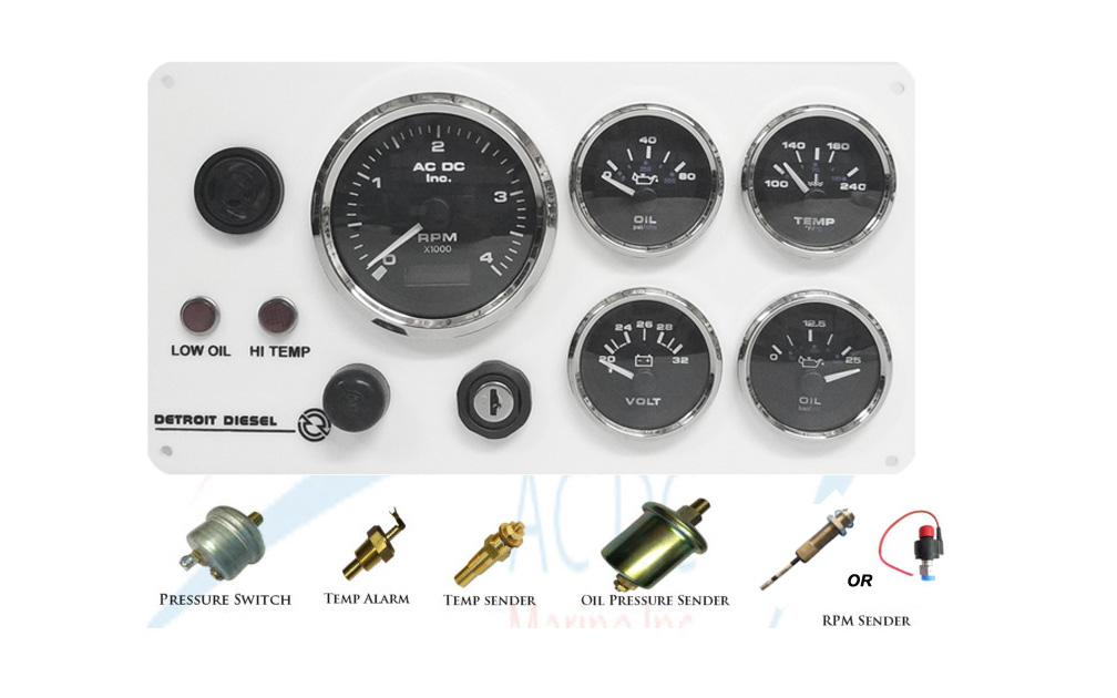 Detroit Diesel Instrument Panel Kit w/ Sending Units