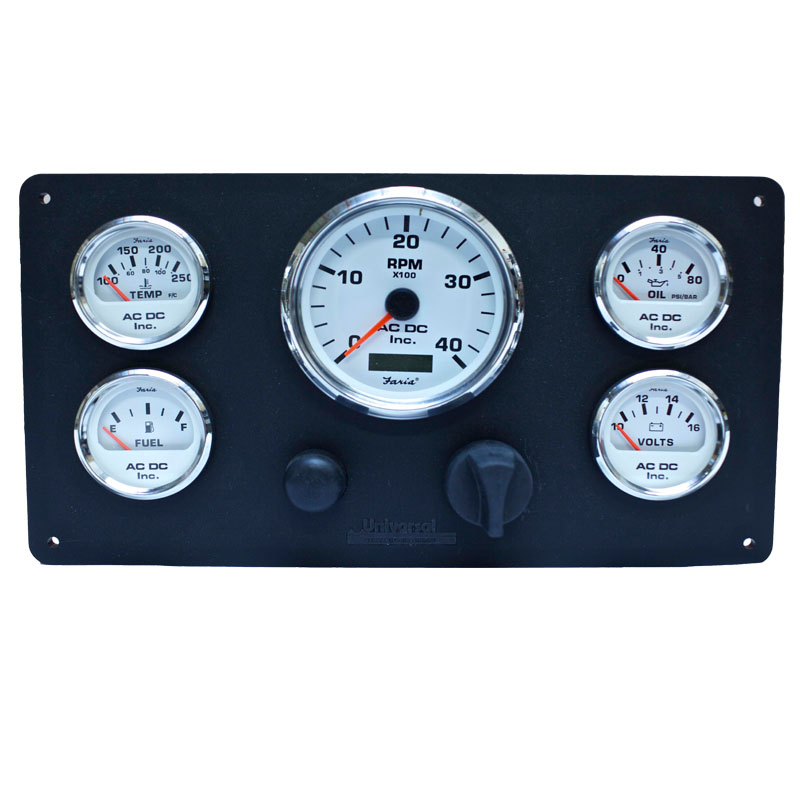 universal marine power engine instrument panel