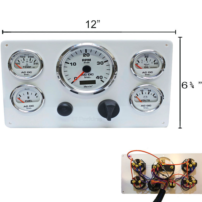 WH PER WH 126 800x800 white perkins marine engine instrument panel, white gauges ac dc vdo marine tachometer wiring diagram at gsmx.co