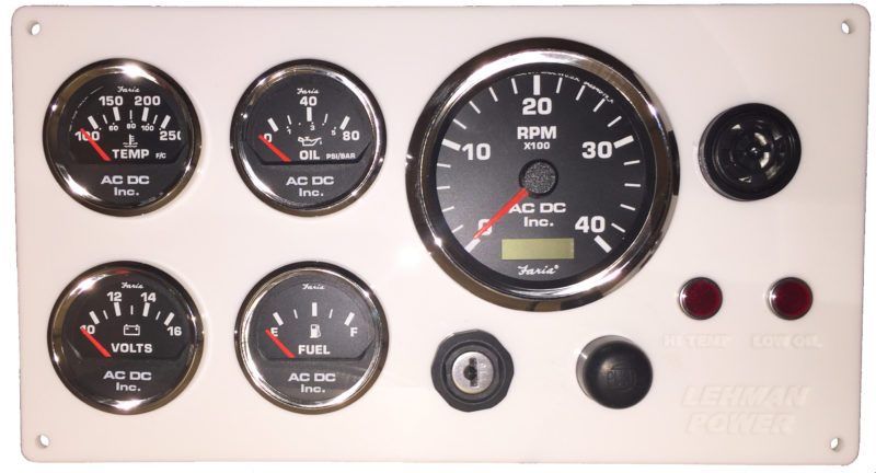 white lehman power diesel marine engine instrument panel black whitelehmanw black gauges
