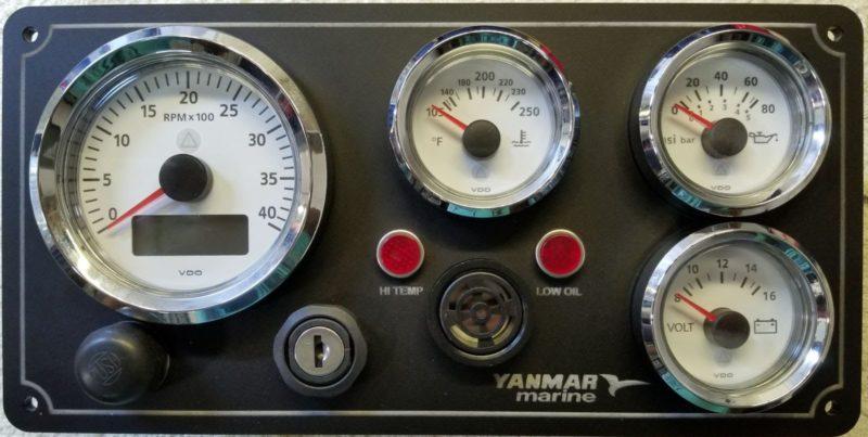 Yanmar B2Type Instrument Panel 11u2033X 5.75u2033 u2013 AC DC Marine, Inc.