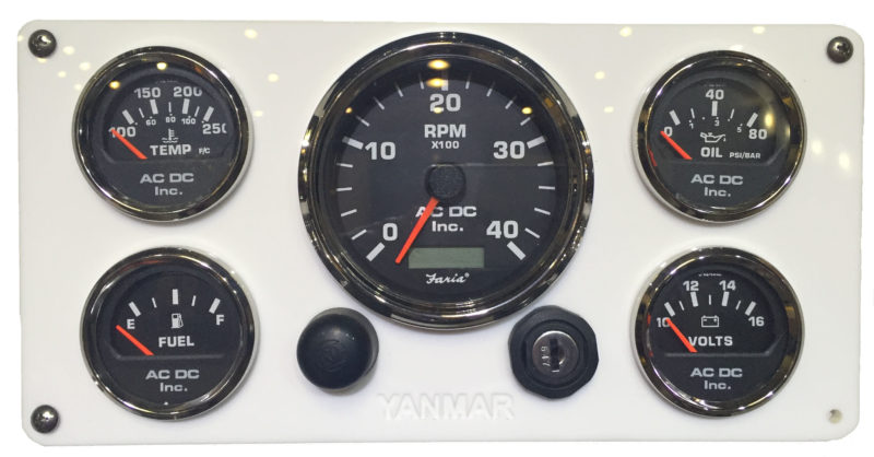 yanmar engine panel 5 black gauges 10″ x 5 75″ ac dc marine inc yanmar engine panel 5 black gauges 10″ x 5 75″