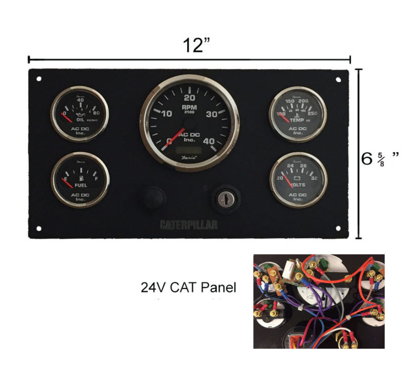 24 Volt Cat Engine Instrument Panel  U2013 Ac Dc Marine Inc