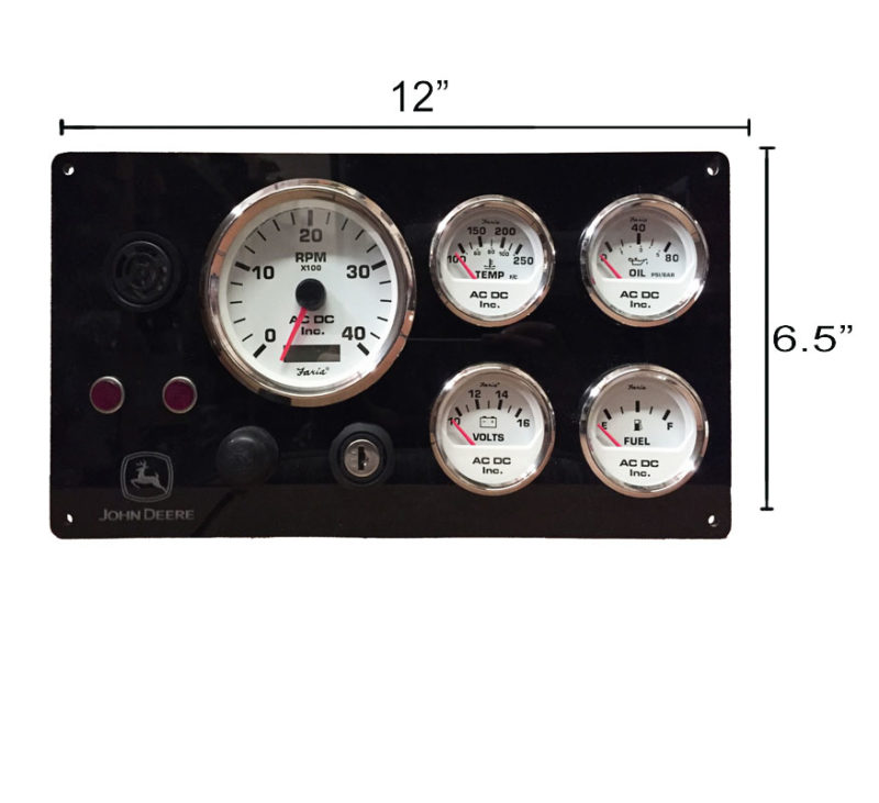 John deere diesel marine instrument panel white gauges ac dc b jon wh 12x6 swarovskicordoba Gallery