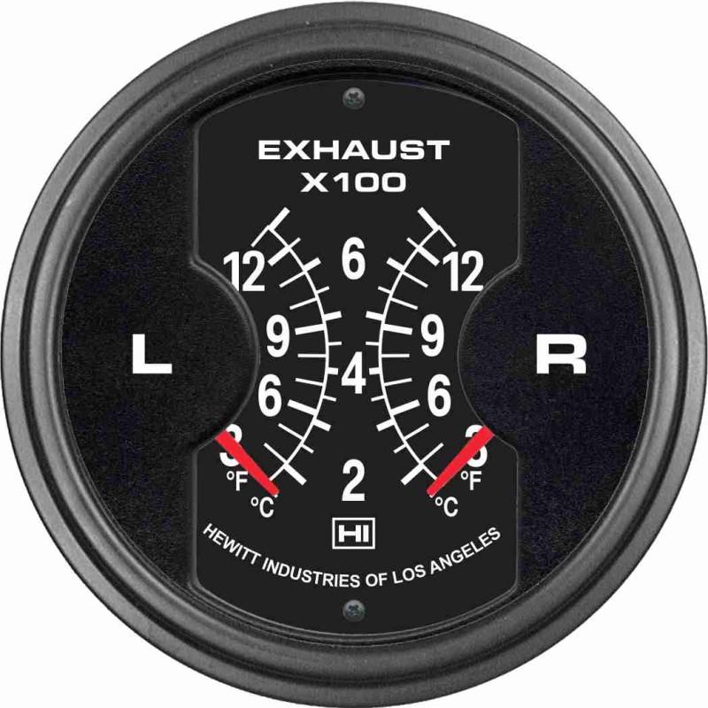 Dual 3 Prime Pyrometer Exhaust Temperature Gauge ndash AC DC