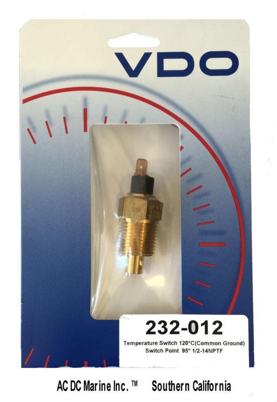 vdo acirc deg c temperature switch ac dc marine inc vdo232 012 temp switch