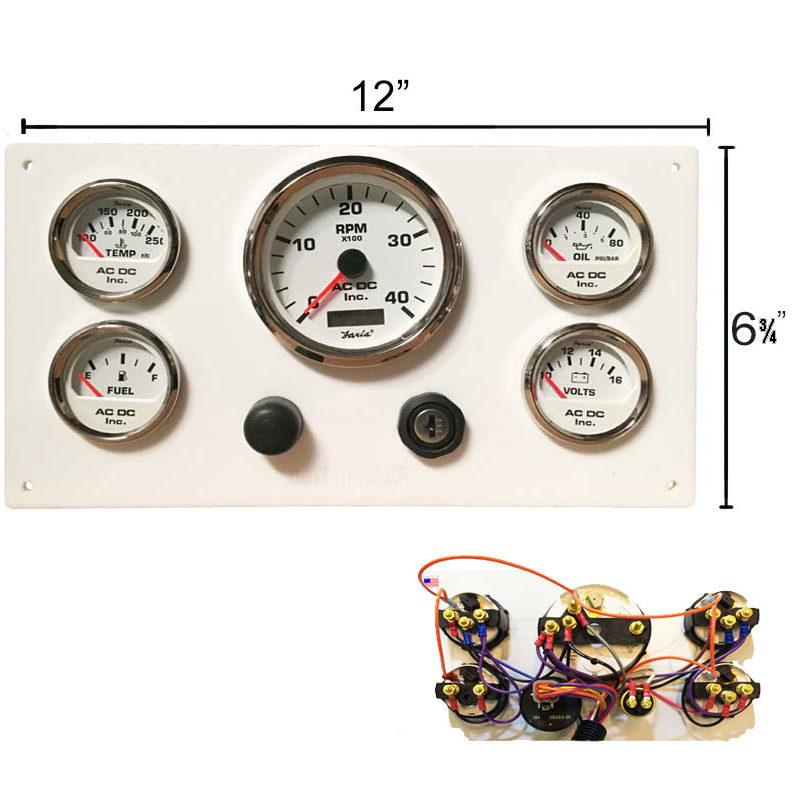 white caterpillar marine engine instrument panel white. Black Bedroom Furniture Sets. Home Design Ideas