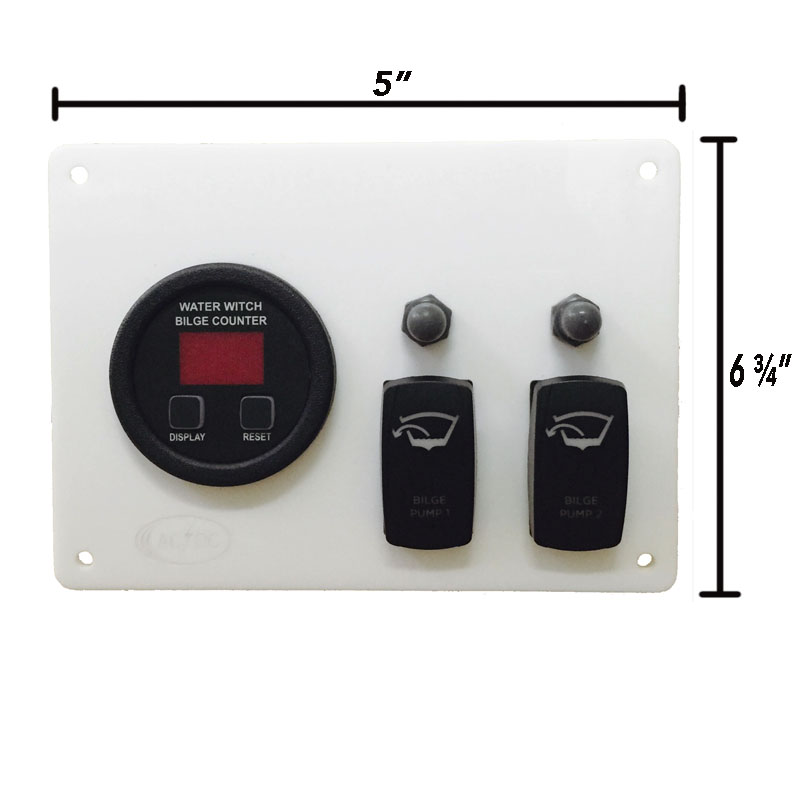 # Bilge Pump Counter Panel water witch Digital Cycle Counter For 2 on