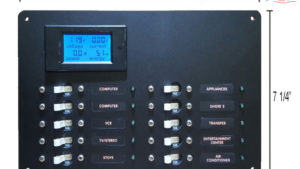 DC Marine Branch Circuit Breaker Instrument Panels