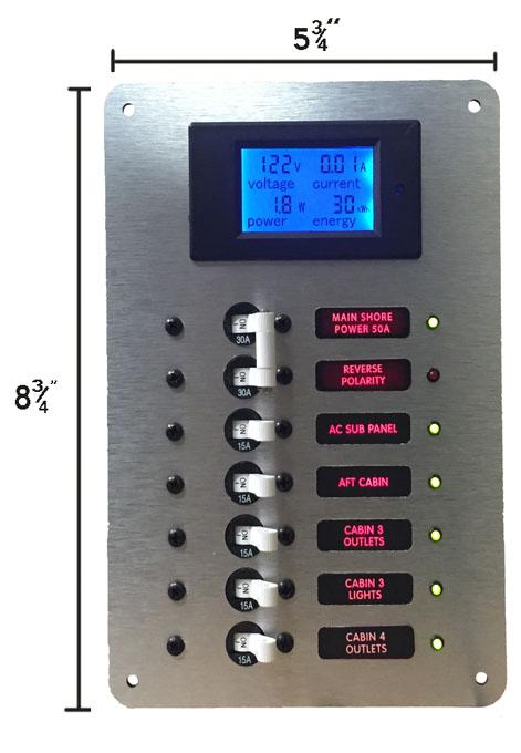 Digital Panel Voltmeter : Ac main circuit breaker panel with digital voltmeter