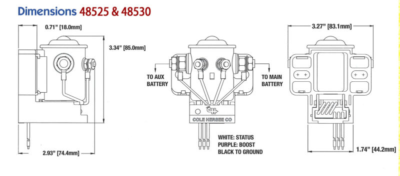 cole hersee smart isoaltor cole hersee 200a smart battery isolator 48530 ac dc marine, inc on cole hersee smart battery isolator wiring diagram