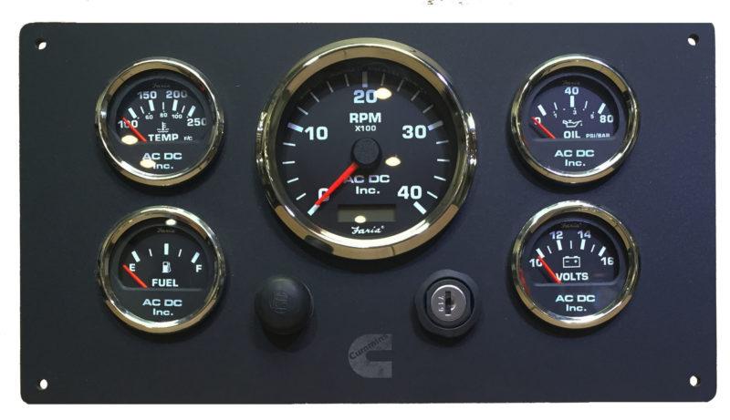 black cummins engine instrument panel  u2013 ac dc marine inc