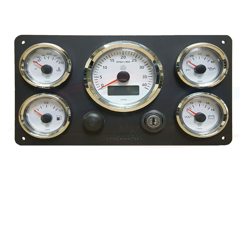 Yanmar Thumnail vdo viewline series gauge set, ready to install ac dc marine, inc vdo hour meter viewline wiring diagram at panicattacktreatment.co