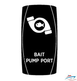Bait pump port side rocker switch cover
