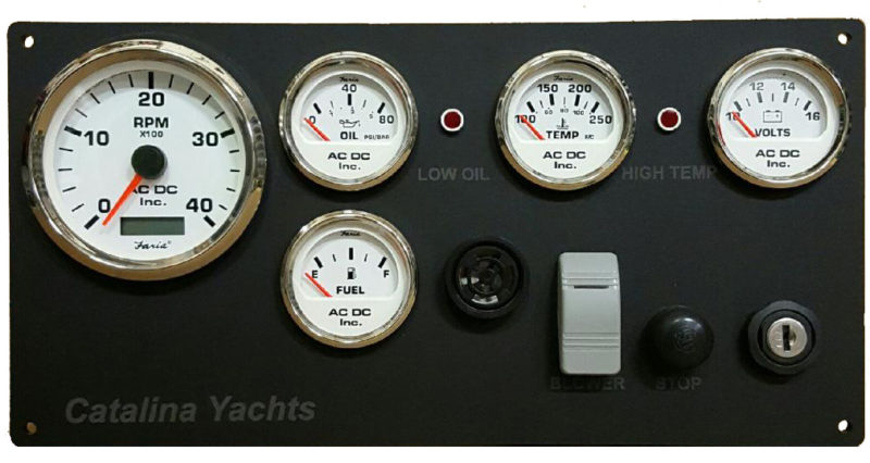 Catalina Sailboat Engine Instrument Panel  U2013 Ac Dc Marine Inc