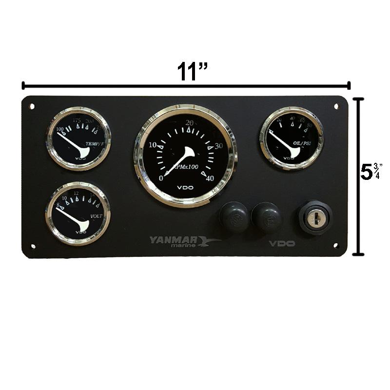 yanmar vdo gauge panel  allentare serires 11 u2033 x 5 3  4 marine thermostat gauge wiring