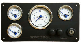 westerbeke panel wtih vdo gauges