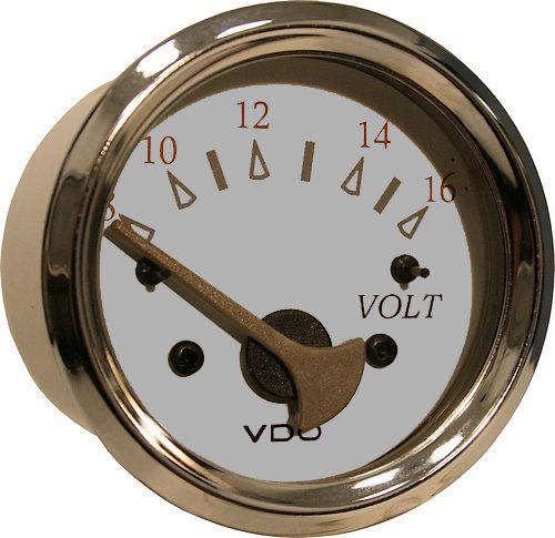 White/grey voltmeter 8-16v #332-13752