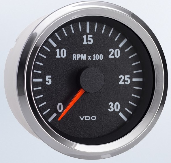 Vdo Vision Chrome Programmable 3 000 Rpm Tachometer 333